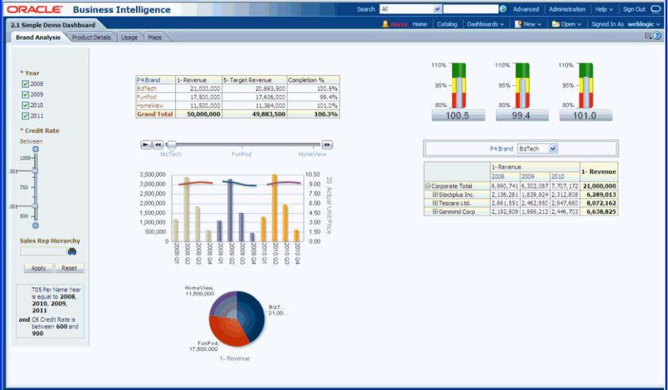 oracle corporation and others dashboards for executives and business professionals the power and the
